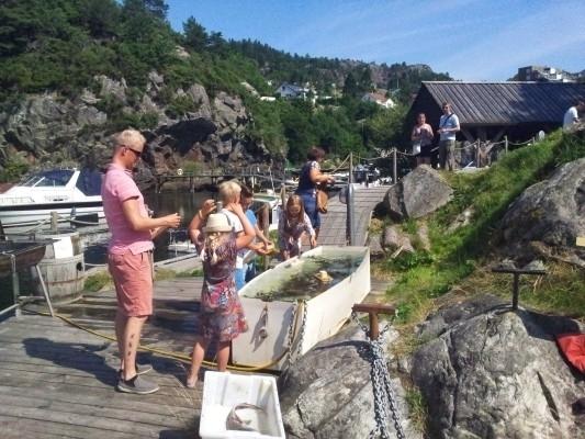 Fiskekaret var som vanlig veldig populært